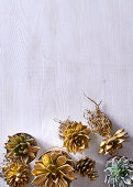 Gilded plants as Christmas decorations