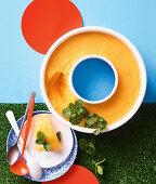Orange and ginger sorbet