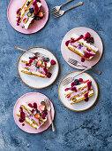 Summer berry fridge cake