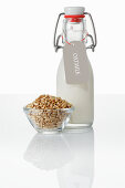 Oat drink and oat grains