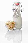 Macadamia milk and macadamia nuts