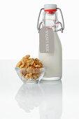 Walnut milk and walnut kernels