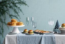 Festive New Year's buffet