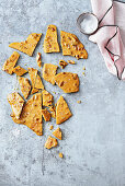 Microwave salted pecan honeycomb brittle