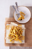 French fries with parmesan and garlic salt