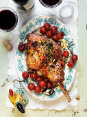 Easter ovenbaked lamb with tomatoes and fennel