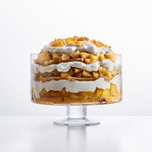 Apple trifle with calvados, ginger syrup and ricotta cream