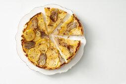 Potato and shallot tarte tatin