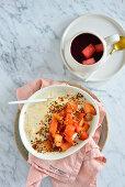 Porridge with pumpkin and apple