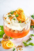 Biscuit-Cream-Trifle with Aperol Spritz
