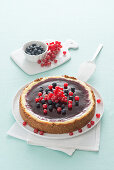Berry cheesecake with orange liqueur