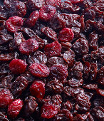 Dried cherries (filling the picture)