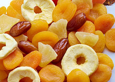 Mixed dried fruit (filling the picture)