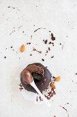 Vegan Chocolate Donut with Chocolate cream and Almonds