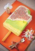 Ice-cream shaped birthday cake