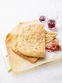 Spianate (unleavened rosemary bread, Italy)