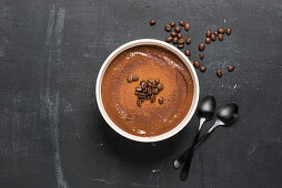 A coffee and chocolate bowl