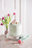 An Easter stracciatella cake