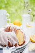 Lemon Bundt cake with icing