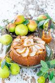Birnen-Karamell-Kuchen