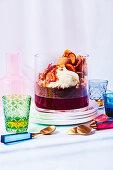 'Old fashioned' trifle with mini orange