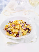 Pappardelle with radicchio and hazelnuts