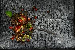 Blackened avocado from the ember