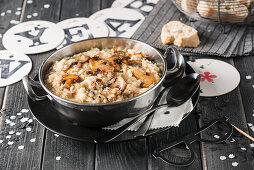 Mushrooms risotto for New Year's Eve