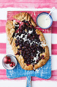 Gingerbread and cherry galette
