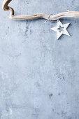 Star on grey background
