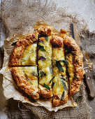 Caraway potato, fontina and sage tart