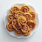 Deblah (deep-fried pastries with lemon syrup and sesame seeds, Tunisia)