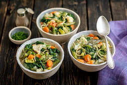 Veggies soup with pasta