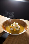 Bouillabaieta with rock fish, fennel and gourmet fish