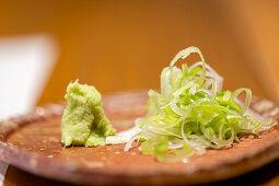 Wasabi and wakame