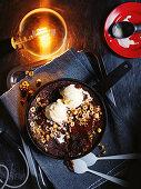 Molten skillet brownie