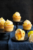 Lemon cupcakes with a liquid core