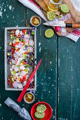 Ceviche with avo and lime