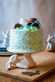 Spiced orange vanilla cake with swiss meringue icing