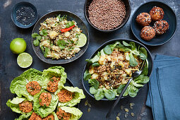 Various lentil dishes