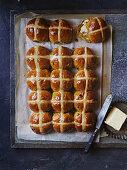 Pumpkin spice hot cross buns