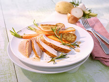 Turkey breast with carrots and potatoes