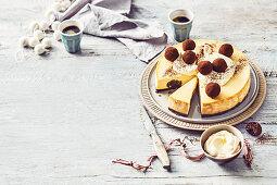 Rum ball cheesecake