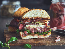 Five cheese burger
