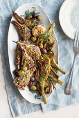 Lamb cutlet and artichoke gratin with fennel