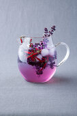 Purple flower fennel iced tea