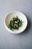 Soba noodle salad with tofu and black sesame