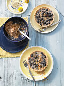 Blueberry tart with breadcrumbs