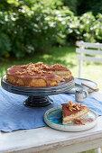 Espresso cake with caramelised almonds