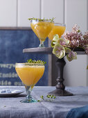Apricot and thyme bellini